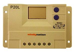 WindyNation LCD 20A PWM Solar Panel Regulator