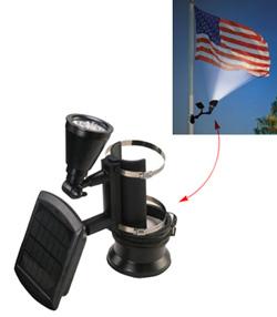 Nature Power solar spot lights for flagpoles