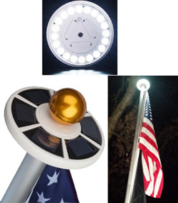 Sunnytech Solar Flag Pole, 20 Brightest Led Lights Designed In USA