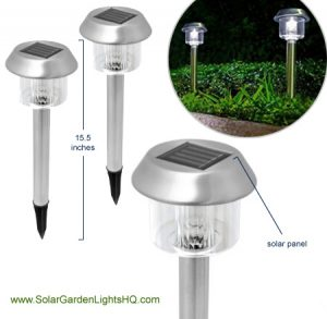 Highgate Stainless Steel Solar Lights