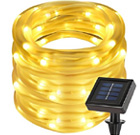 Lighting EVER 33ft 100 LED Solar Power Rope Lights